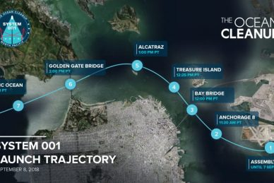 On September 8, The Ocean Cleanup launches System 001!